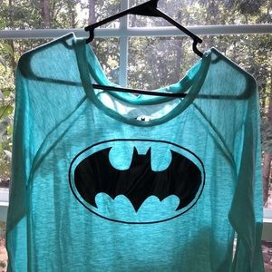 Light blue Batman quarter sleeve